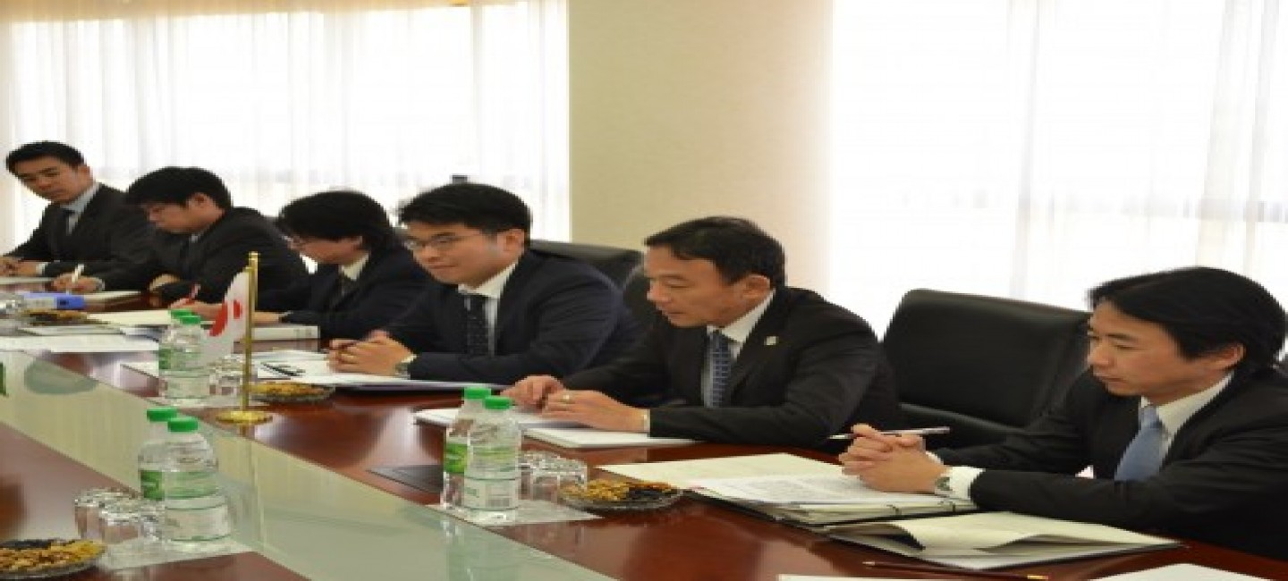 Meeting with the representative of the Ministry of Economy, Trade and Industry of Japan