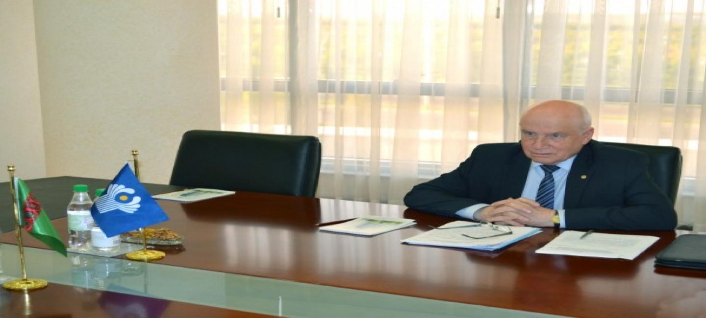 Глава МИДа Туркменистана встретился с Председателем Исполнительного комитета – Исполнительным секретарём СНГ